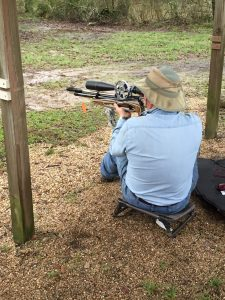 Ron Brown shooting his Air Arms FTP 900 with a Sightron SIII 10-50 scope
