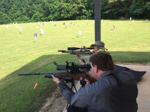 Charles Garvey (foreground) shot his Rapid to the Gunslynger PCP title!